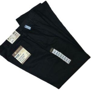 2 pairs NWT Haggar men's 36x32 trousers navy/black